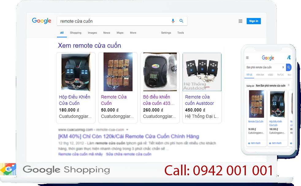 Quảng cáo mua sắm google shopping